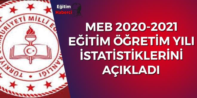 MEB 2020-2021 EĞİTİM ÖĞRETİM YILI  İSTATİSTİKLERİNİ AÇIKLADI