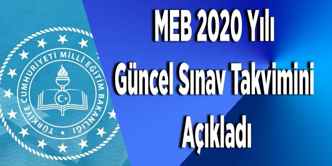 MEB, 2020 Yılı Güncel Sınav Takvimini Açıkladı