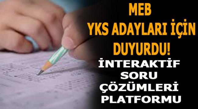 MEB YKS Öğrencilerine Yönelik Platform Hazırladı