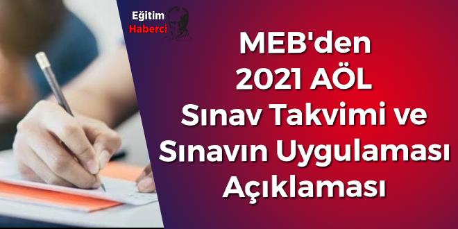 MEB'den 2021 AÖL Sınav Takvimi ve Sınavın Uygulaması Açıklaması Yapıldı