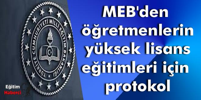 MEB'den öğretmenlerin yüksek lisans eğitimleri için protokol