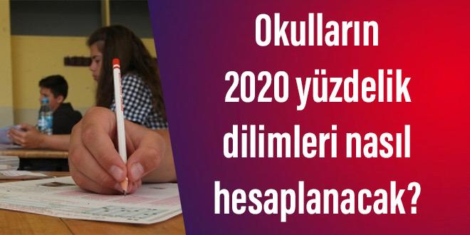 Okulların 2020 yüzdelik dilimleri nasıl hesaplanacak?