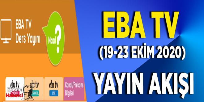 EBA TV (19-23 Ekim 2020) Yayın Akışı