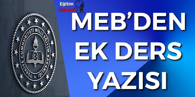 MEB'DEN EK DERS YAZISI