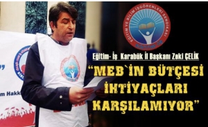 """ÇELİK """"EĞİTİM İŞ ASLA GERİ ADIM ATMAYACAKTIR"""""""