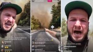Şahan Gökbakar yangın bölgesinden seslendi:Havadan müdahale şart