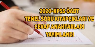 2020-KPSS ÖABT Temel Soru Kitapçıkları ve Cevap Anahtarları Yayımlandı