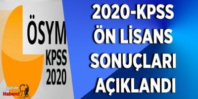2020-KPSS  Ön Lİsans  sonuçları  Açıklandı