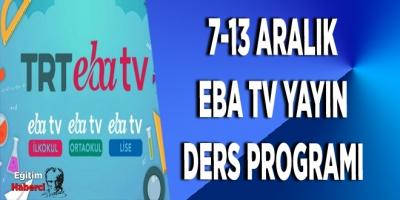 7-13 aralık eba tv yayın ders programı