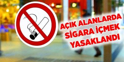 Açık Alanlarda Sigara İçmek Yasaklandı