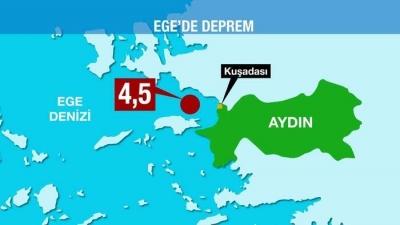 AFAD Açıkladı: Kuşadası'nda 4.5 Büyüklüğünde Deprem!