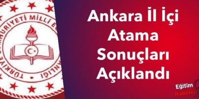 Ankara İl İçi Atama Sonuçları Açıklandı