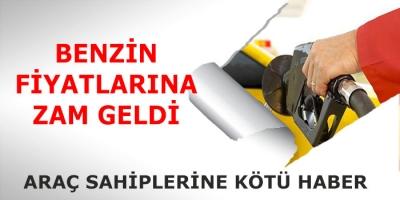 -BENZİNE 13 KURUŞ ZAM YAPILDI