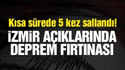 İzmir açıklarında deprem fırtınası! Son depremler listesi…
