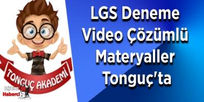 LGS Deneme Video Çözümlü Materyaller Tonguç'ta