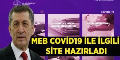 MEB COVİD19 İLE İLGİLİ  SİTE HAZIRLADI