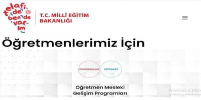 MEB Öğretmenlere Yönelik Etkinlik ve Gelişim Programları MEB Tarafından Açıkladı