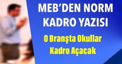 MEB'den Norm Kadro Yazsısı