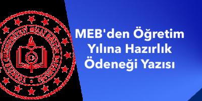 MEB'den Öğretim Yılına Hazırlık Ödeneği Yazısı