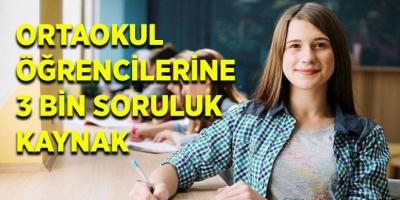 MEB'den Ortaokul Öğrencilerine Yönelik 3 Bin Soruluk Kaynak