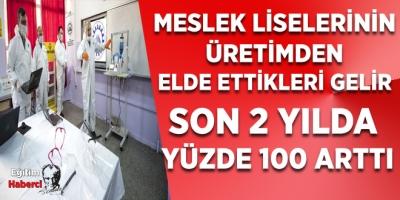 MESLEK LİSELERİNİN ÜRETİMDEN ELDE ETTİKLERİ GELİR SON 2 YILDA YÜZDE 100 ARTTI