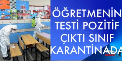 Öğretmenin testi pozitif çıktı öğrenciler karantinada