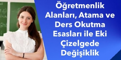 Öğretmenlik Alanları, Atama ve Ders Okutma Esasları ile Eki Çizelgede Değişiklik