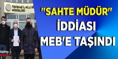 Sahte müdür iddiası MEB'e taşındı