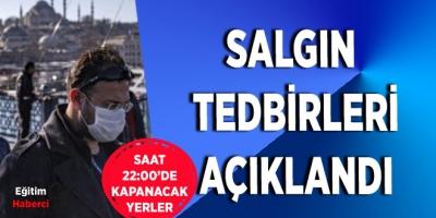 SALGIN TEDBİRLERİ AÇIKLANDI