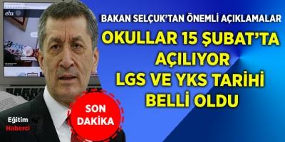 Son dakika haberi: Milli Eğitim Bakanı Selçuk'tan önemli açıklamalar