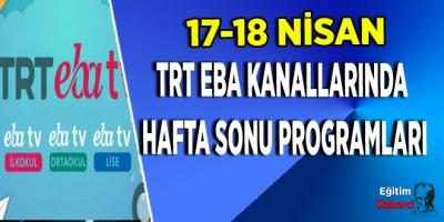 TRT EBA Kanallarında Hafta Sonu Programları