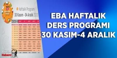 TRT EBA'da Yeni Haftanın Programı Hazır